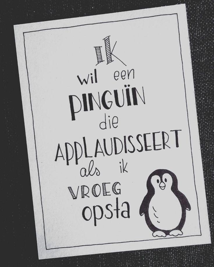 Ik wil ooit een pinguin...