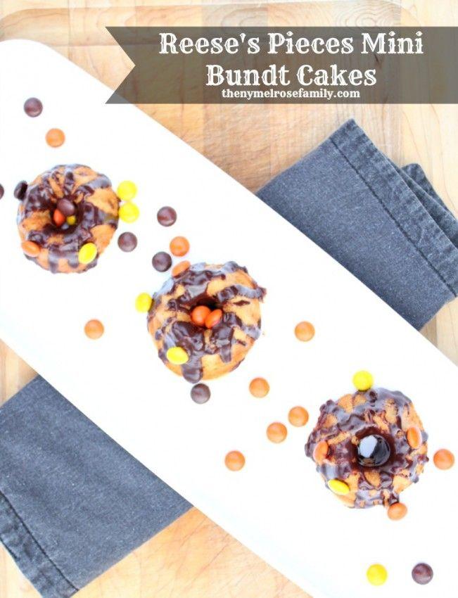 Reese's Pieces Mini Bundt Cakes | Recipe | Bundt Cakes, Minis and ...
