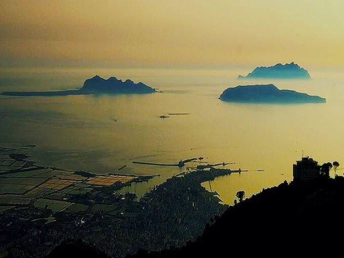 Egadi Islands and Trapani from Erice