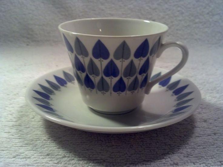 Vintage Rorstrand, Sweden Valentine Pattern Cup and Saucer
