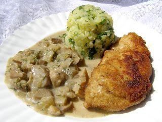 W Mojej Kuchni Lubię.. : kotlet z piersi z sosem z prawdziwków...