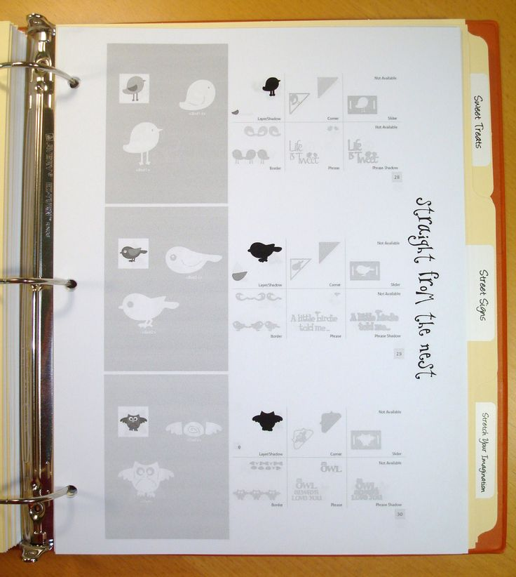 Cricut Cartridge Cheat Sheets Example 2 Scrapbook Com