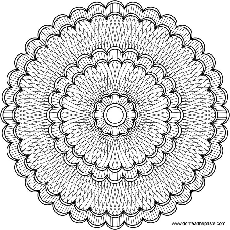 Flower Mandala Pattern Free Printable Coloring Pages