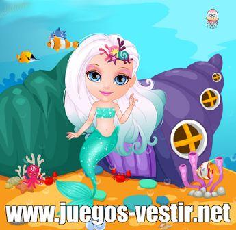 Te presento a la baby #sirena #barbie, la mas linda de todo el océano #juegosdevestir   #juegosdebarbie    http://www.juegos-vestir.net/jugar/baby-sirena-barbie