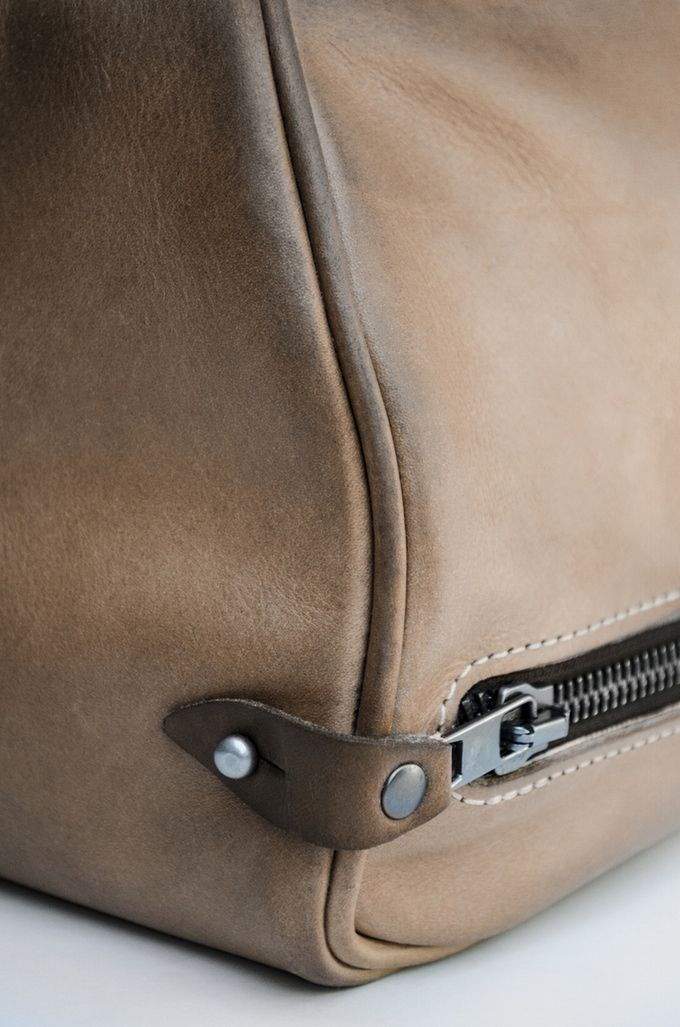 Zipper secure tab -- A duffel built to last a lifetime—two if you count the cow's by KENDAL & HYDE — Kickstarter