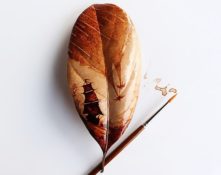 Artist paints stunning leaf art from leftover coffee grinds and stains | Inhabitat - Sustainable Design Innovation, Eco Architecture, Green Building