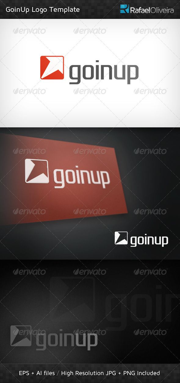 A professional logo template, easy to remember and beauty designed, featuring an up arrow symbol which stands for success and evolution, combined with a beautiful and clean typography • Click here to download ! http://graphicriver.net/item/goinup-logo-template/500455?s_rank=8&ref=pxcr