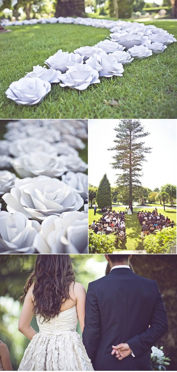I love everything about this Portuguese wedding - especially these handmade {by the bride} paper roses that surrounded the couple during the ceremony!