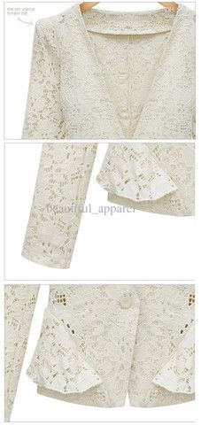 New Style Lace Suit Slim Hollow Out Waist Long Section Small Suits Lon – teeteecee - fashion in style