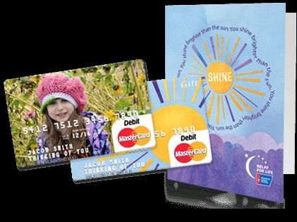 Cute idea for gift cards: Relay For Life MasterCard Gift Cards | GiftCards.com