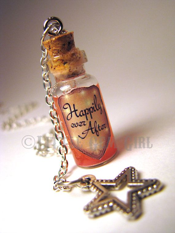 Happily Ever After  Glass Bottle Cork Necklace  by LittleGemGirl, $19.00 - Gaaah, i need this!