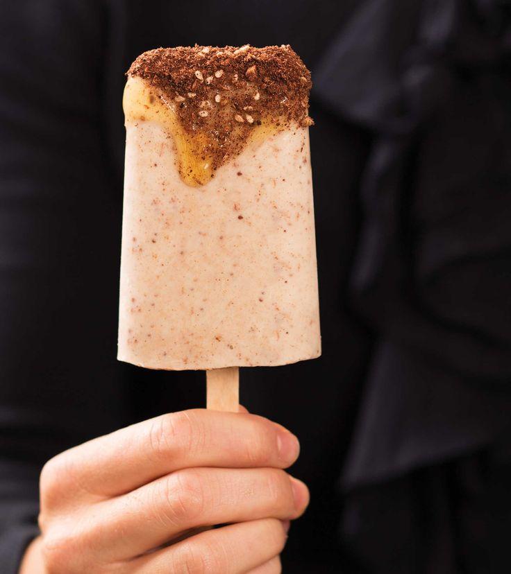 Chocolate and Almond Dukkah Frozen Yoghurt