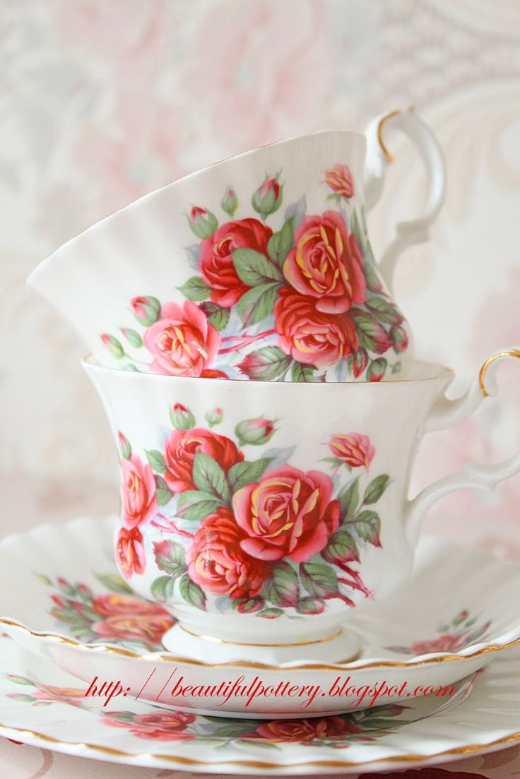 Rose Teacups from Beautiful Pottery!
