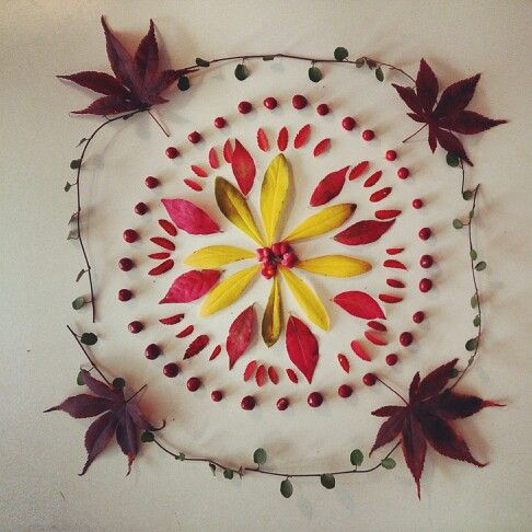 Nature mandala made by me homemade pinterest mandalas and nature - Mandala nature ...