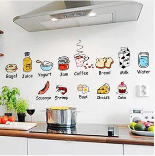 decoraciones para pared de cocina animada - Buscar con Google