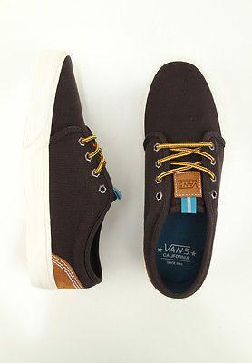 Vans 106 Vulcanized CA Shoes Hiker Black Mens New | eBay