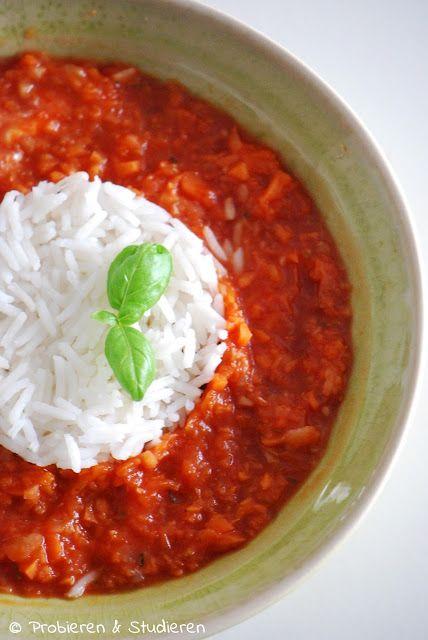 Ein Blog mit Rezepten für die vegetarische Studentenküche - Bunt, gesund und schnell kochen// Kohlrabi-Tomatensuppe mit Reis