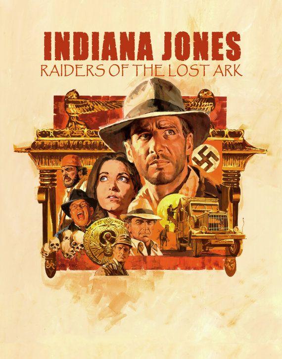 PAUL MANN -- Indiana Jones Raiders of the Lost Ark Fan Poster