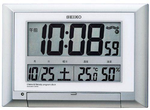 SEIKO CLOCK (セイコークロック)  掛け時計 置き時計 兼用 デジタル 温度表示 湿度表示 プログラムクロック 電波時計 SQ427S セイコークロック http://www.amazon.co.jp/dp/B004Y8UP6I/ref=cm_sw_r_pi_dp_FYz2tb1XTT4WPSPV