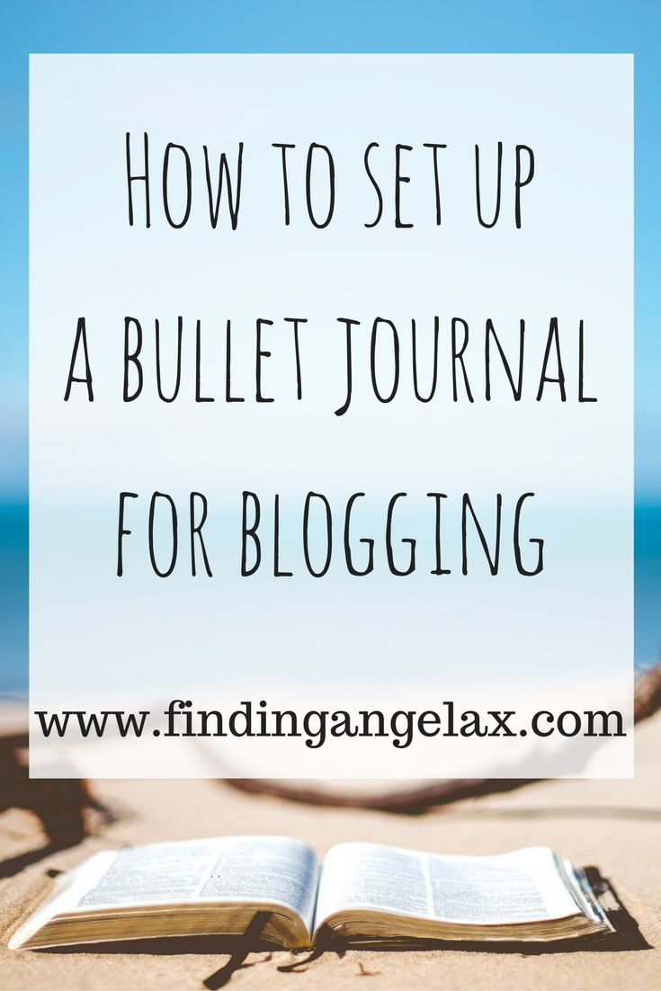 how to set up a bullet journal as a guft