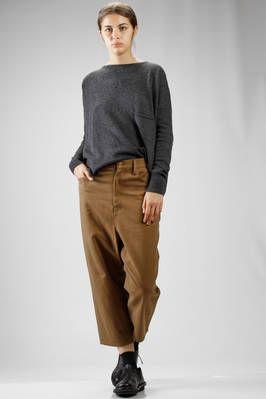 MA'RY'YA | wide sweater in merinos wool, cashmere and silk stockinette stitch | #maryya
