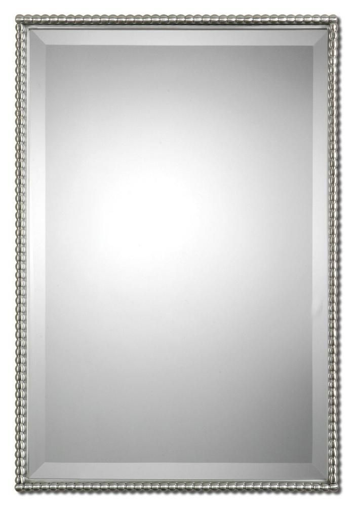 BRUSHED NICKLE!!!!!! Uttermost Sherise Brushed Nickel Mirror : 01113 | Starlight Lighting