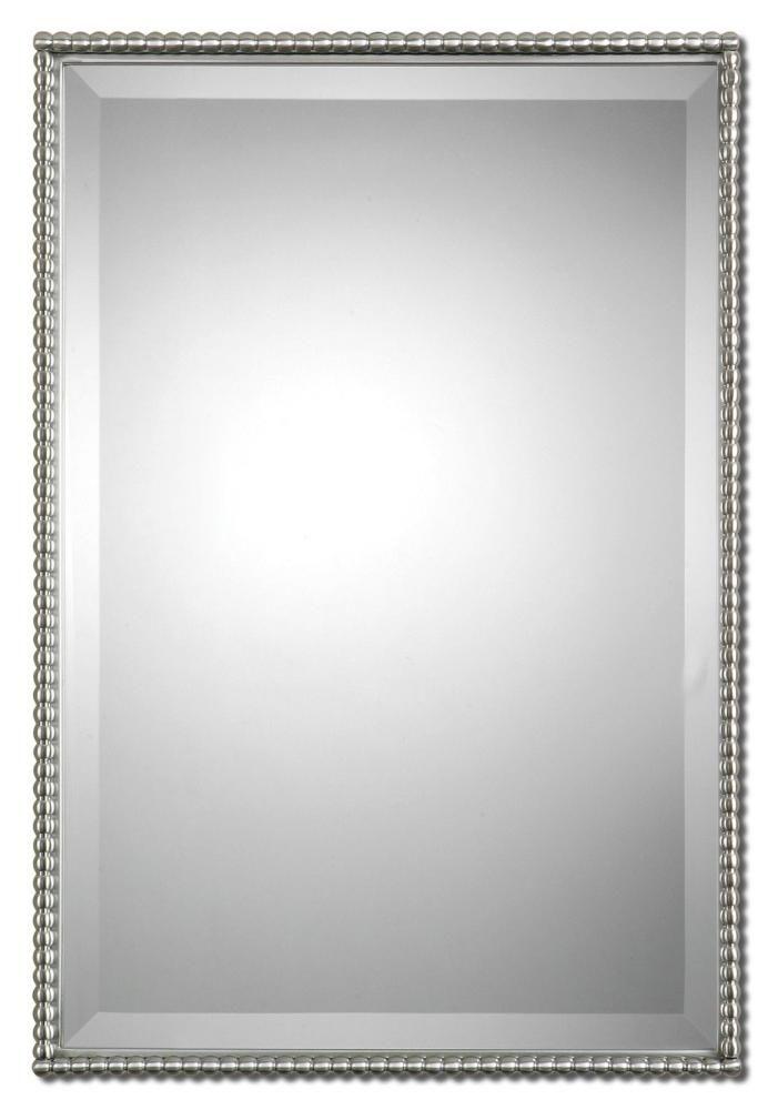BRUSHED NICKLE!!!!!! Uttermost Sherise Brushed Nickel Mirror : 01113 | Starlight Lighting