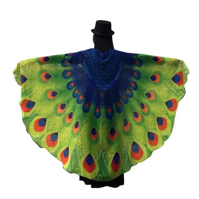 499c5b8f96afa Peacock Wings Cape Chiffon Chamsgend Brand Newly Designed Cosplay ...