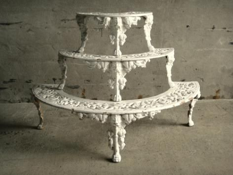 Victorian iron etagere....I need this for my potted plants