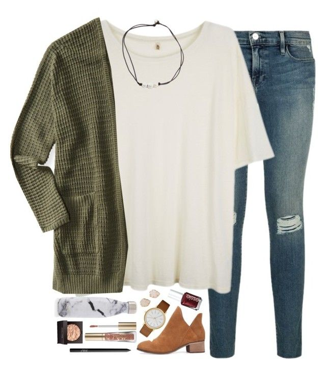 """""""youtube is a really great invention"""" by sdyerrtx ❤ liked on Polyvore featuring R13, Aéropostale, Skagen, S'well, Laura Mercier, Too Faced Cosmetics, Kendra Scott, NARS Cosmetics and Essie"""