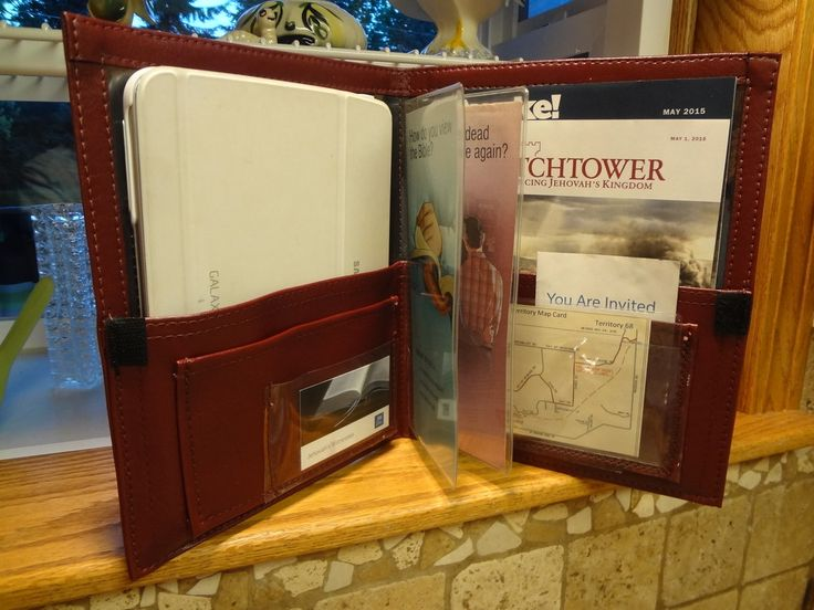 service organizer holder folder holds watchtower magazines bible tracts house to house records
