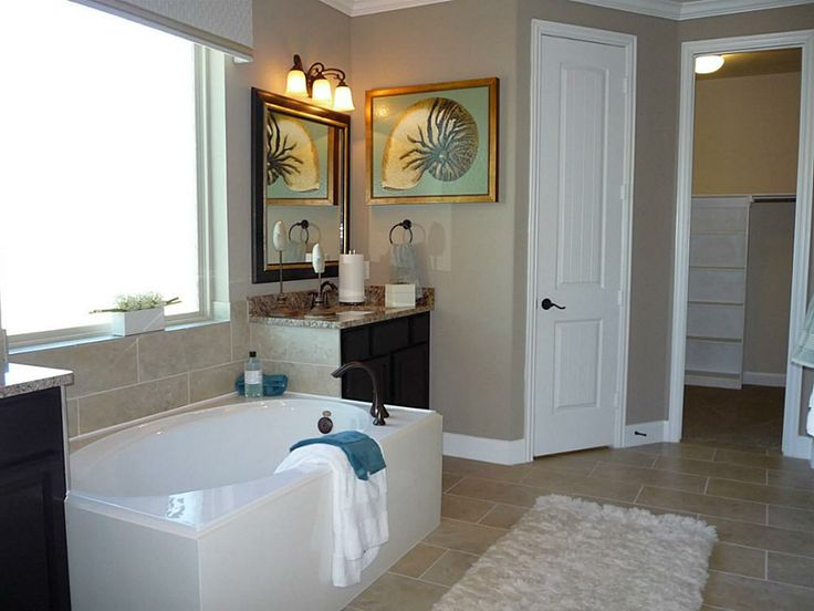 Luxurious Master Bath Features Granite Topped His Hers