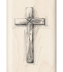 Inkadinkado Rubber Stamp - Wooden Cross & stamps at Joann.com