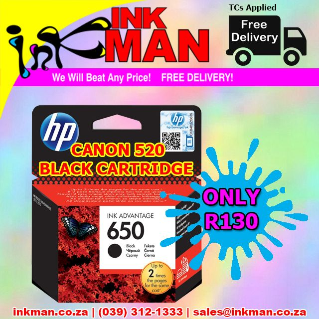 @Canon_SA 520 Black #inkjet #cartridge #UNBEATABLE #PRICE! ONLY R130 #INKman #Margate #Print http://bit.ly/1MzkE1Q