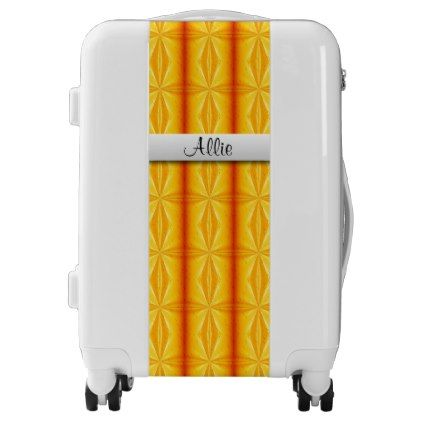 #Golden Raindrops Personalized Luggage - custom #luggage #suitcase #suitcases #bags #trunk #trunks