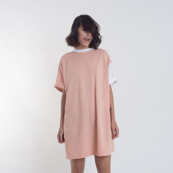 Oversized T Shirt Dress in One-Size // Casual Mini Day Dress by annakshop. Explore more products on http://annakshop.etsy.com