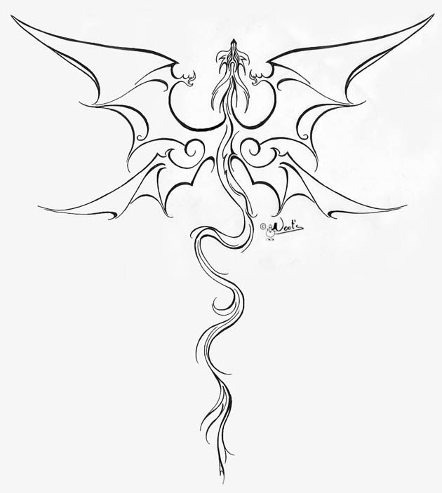 Dragonfly Tattoo Line Drawing : The best dragon tattoos ideas on pinterest