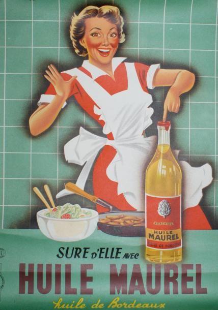 Huile Maurel, huile de Bordeaux - 1955 - (Emmanuel Gaillard) -