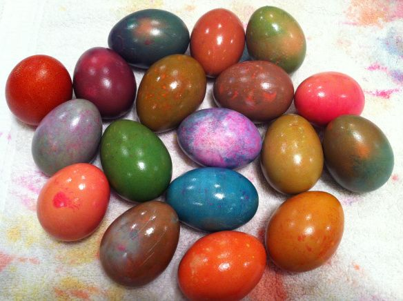 Eggs after the second process.