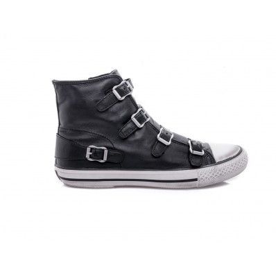 #ASH - Sneakers Virgin dettaglio fibbie nappa nero - Elsa-boutique.it <3