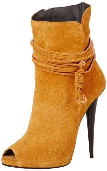 Giuseppe Zanotti Mustard Women's Peep-Toe Ankle Boots $1,250 Spring 2014 #Booties #Shoes Nice....however not at that price!