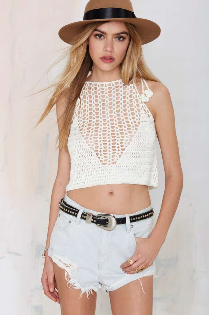 This is the festival crochet top you've been looking for.