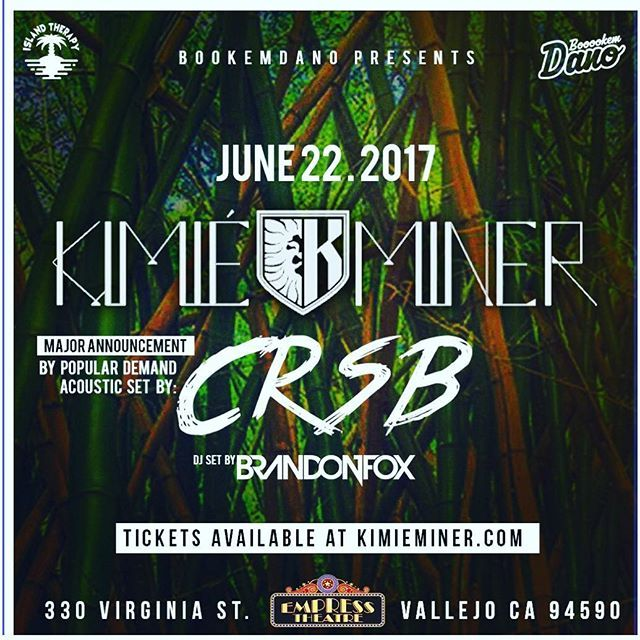 """""""Another @island_therapy_ / @_boookemdano event. Straight from my love, my heart, my home the BIG 808, the talented @playkimie coming to the Bay Area to kill the stage with the Bay Boys @crsb_music and of course you got mr @brandonthefox on the beats. Get your tickets now at empresstheatre.org. Remember it sold out last show so don't miss out!! #bookemdano #islandtherapy #instagood #islandlife #hawaii #love #bayarea #california #vallejo #empresstheatre #aloha #goodmusic #events #808"""" by…"""