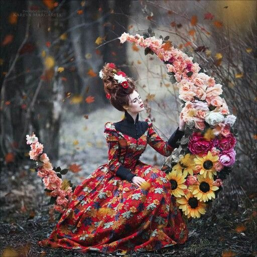 Beautiful floral Mexican folk fashion inspired magazine photo shoot Kareva Margarita
