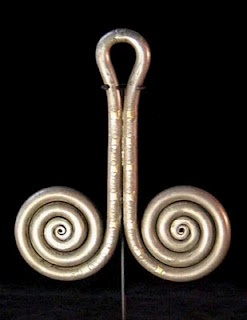 Anting Padung | Earringpadung19th century | sed as a headdress ornament these earrings were supported by the wearer's headcloth.