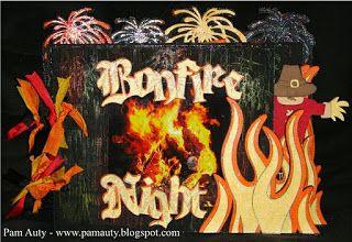 Bonfire Night Minibook designed on Gypsy (Cricut)