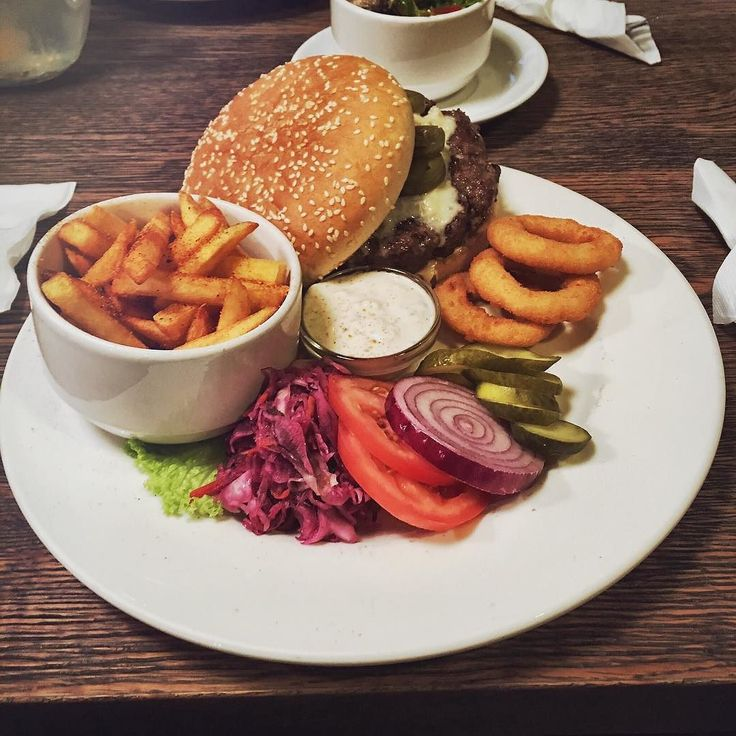 Super #delicious #burger from #BeAbout #Bratislava. They have reasonable prices and #friendly staff.