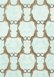 Thibaut Jubilee - Cheetah - Wallpaper - Aqua - powder bath