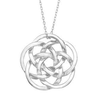 Michelle Lee Sterling Silver Celtic Knot Necklace