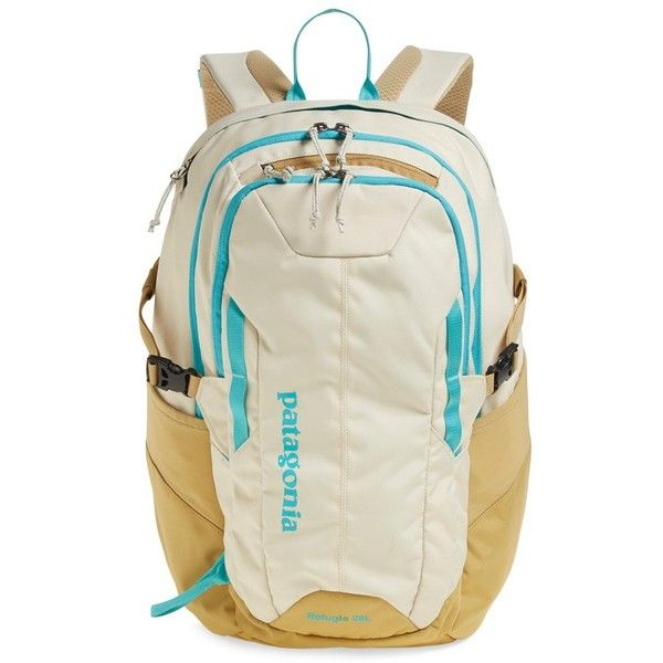 Patagonia 'Refugio 28L' Backpack (130 NZD) ❤ liked on Polyvore featuring bags, backpacks, light sesame, buckle backpack, padded backpack, padded laptop bag, backpacks bags and laptop rucksack